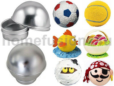 Fusion 3d Sports Ball Round Cake Tin Pan Set Football Tennis Basketball Sphere • 117.85£