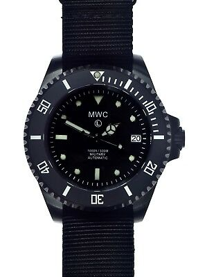 $ CDN424.28 • Buy MWC 24 Jewel | 300m | Black PVD Steel | Automatic | Submariners/Divers Watch