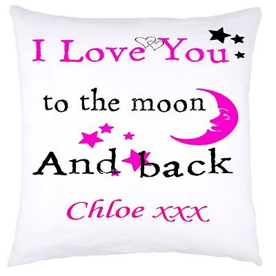 £9.99 • Buy Personalised Cushion Cover Love You To The Moon And Back   Mother's Day Mothers