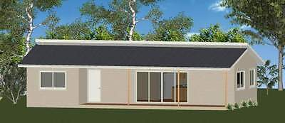 AU36900 • Buy 2 Bedroom DIY Granny Flat Kit The Retreat 80m2 With Gal Chassis CGI Wall Sheets