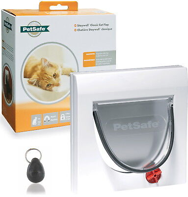 Staywell Petsafe 932 White Magnetic Cat Flap Door And Keys Order Up To 10  • 21.95£