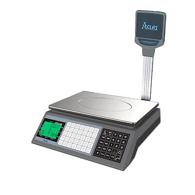 Ps1xdp Retail Shop Scale With Customer Pole Display And Plu Keys • 273.50£