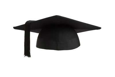 £12.98 • Buy Graduation Mortarboard - Master's Fitted Black Cap Hat - Academic Gown Accessory
