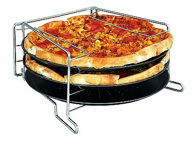 £16.99 • Buy 4 Piece Pizza Tray Set Serving Plate Baking Tin Oven Grill Rack Non Stick Trays