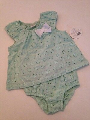 £7.20 • Buy Kyle & Deena Baby Girl Summer Outfit Set Size 3 6 9 Months Mint Green Eyelet