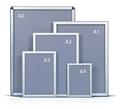 A0A1A2A3A4 Snap Frames Poster Clip Holders Displays Retail Wall Notice Boards • 6£