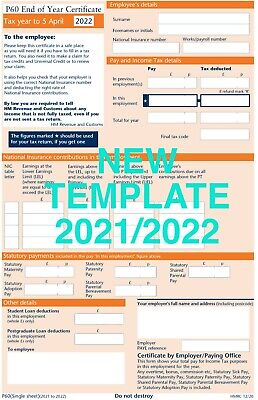 P60 FORMS 50 FORMS FOR 2019/20 SAGE IRIS/TAS PAYROLL Brand New High Quality • 5.98£