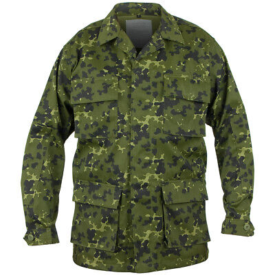 $38.95 • Buy Mil-Tec Tactical Combat Mens Bdu Shirt Danish Military Uniform Jacket M84 Camo