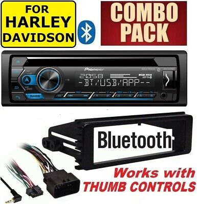 $219.99 • Buy For Harley Touring Pioneer Deh-s4000bt Bluetooth Cd Usb Radio Stereo Adapter Kit