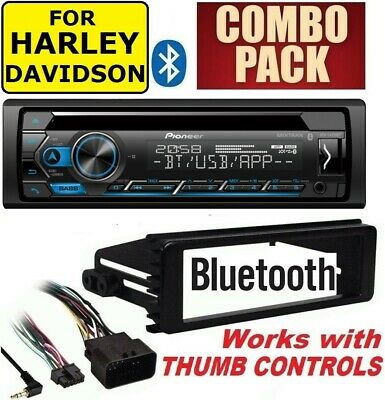 $249.99 • Buy For Harley Touring Pioneer Deh-s4220bt Bluetooth Cd Usb Radio Stereo Adapter Kit
