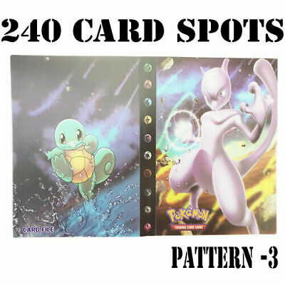 AU10.95 • Buy 240 Card Spots Pokemon Cards Album Book Card Holder Collectors Folder Mewtwo