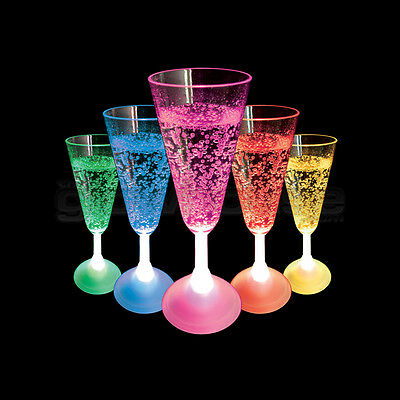 Light Up LED Champagne Glass Flashing Colour Change Party Cup • 5.99£