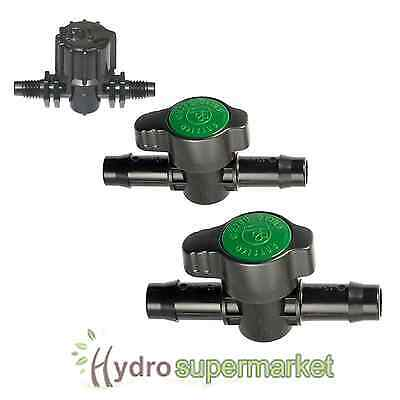 4mm, 13mm, 19mm Inline Valve - Pond, Hydroponics, Irrigation, Tube, Pipe • 4.50£