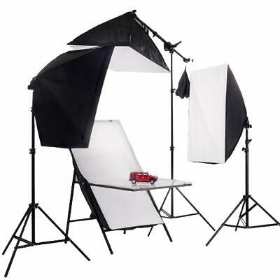 Continuous Lighting Kit 150W Studio Softbox Product Photography Shooting Table • 139.99£