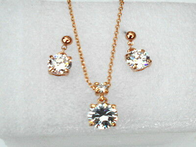 18K Gold Plated Jewelry Set Genuine Made With Swarovski Crystal Stellux Fashion • 106.99£