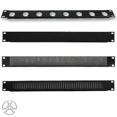 1U 19  Rack Panel With Nuts & Bolts Vented, Plugs Pulse Audio Studio Equipment • 5.50£