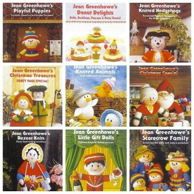 AU20 • Buy JEAN GREENHOWE Collection Knitting Leaflet Books - 8Ply DK - Select From 15