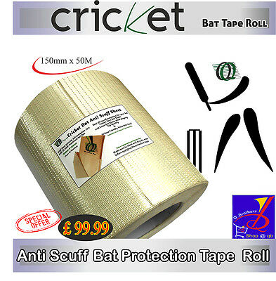 £6.99 • Buy CRICKET BAT ANTI SCUFF SHEET & ROLL 150mm X 50M EXTRATEC BAT PROTECTION & CARE