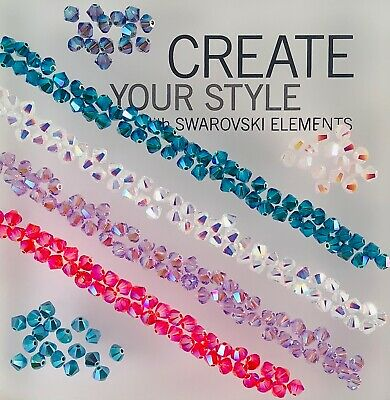 $2.72 • Buy Swarovski® Crystal 4mm Bicone Beads -  AB 2X Colors And Coatings - 24 PC. PK