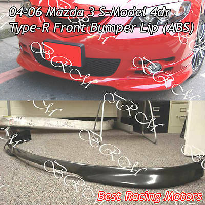 $109.99 • Buy Type-R Style Front Bumper Lip (ABS) Fits 04-06 Mazda 3 4dr S-Model