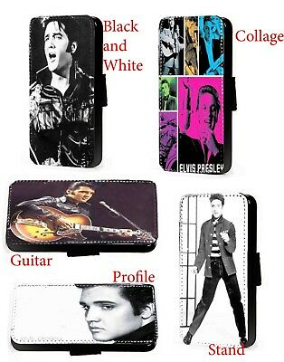 Elvis Presley Profile Faux Leather Wallet Phone Case For Samsung IPhone • 11.20£