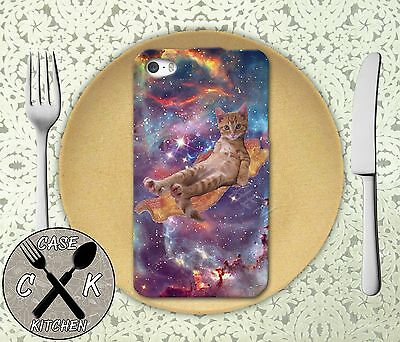 £10.84 • Buy Cat On Bacon Flying Space Galaxy Apple IPhone 4,4s,5,5s,5c,6,6 Plus Rubber Case