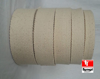 Canvas Natural 100% Cotton Webbing Belt Fabric Strap Bag Making Beige Color • 3.70£
