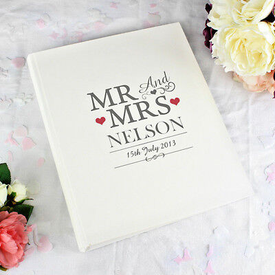 £20.99 • Buy Personalised Mr And Mrs Traditional Cream Photo Album Wedding Day Gift
