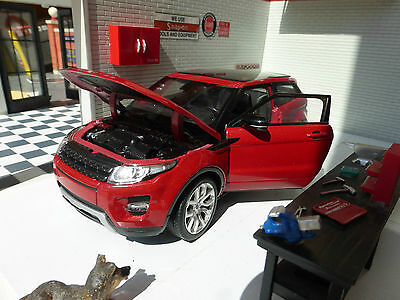 Red Land Range Rover Evoque Welly 1:24 Scale Diecast Detailed Interior Model Car • 24.20£