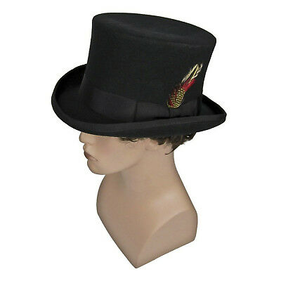 7720706e3e238 Adult Mad Hatter Steampunk Victorian Dickens Madhatter Cosplay Costume Top  Hat • 54.94