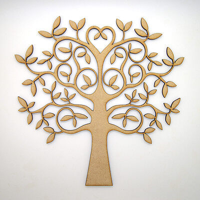 £2.95 • Buy Wooden MDF Tree Shape Blank,Family Tree,Wedding,Guestbook,Crafting - FREE Hearts