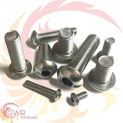 £2.09 • Buy M3 M4 M5 M6 Socket Button Screws - Dome Head - Hex Allen Bolts - A2 Stainless