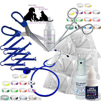 £21.40 • Buy Whelping Kit Sterile Aspirator Forceps Cord Clamps Welping Pup Kitten Life Drops