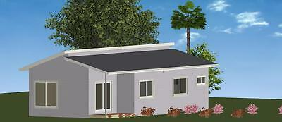 AU35020 • Buy 3 Bedroom DIY Granny Flat Kit - The Royal 76.2m2 On Gal Chassis- CGI Wall Sheets