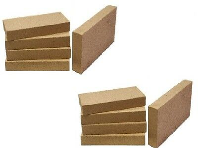 £26.88 • Buy 12 Clay Stove Fire Bricks 230mm X 114mm 9  X 4.5  X 1  Pizza Ovens Food Safe