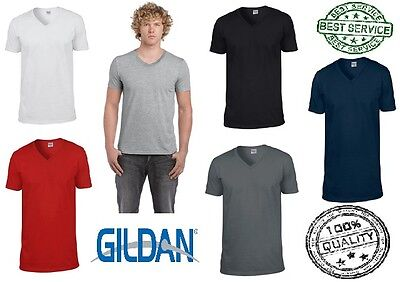 New Men's Gildan Ringspun Soft Style V Neck Soft Touch T Shirt • 3.68£