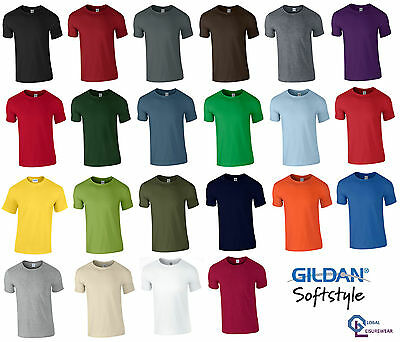 Gildan Mens Softstyle Ringspun Short Sleeve Plain Crewneck Cotton T Shirt 64000 • 2.79£