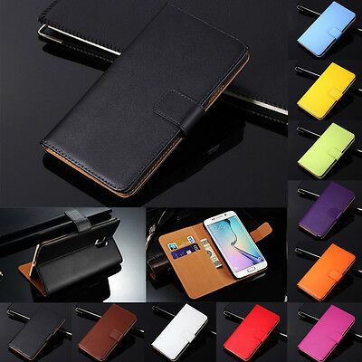 $ CDN6.58 • Buy Genuine Leather Flip Wallet Case Cover For Samsung Galaxy S20 Ultra S10 S9 S8+