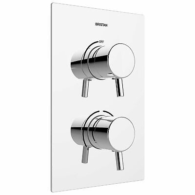 Bristan Prism Thermostatic Recessed Dual Control Shower Valve Only - Chrome • 226.95£