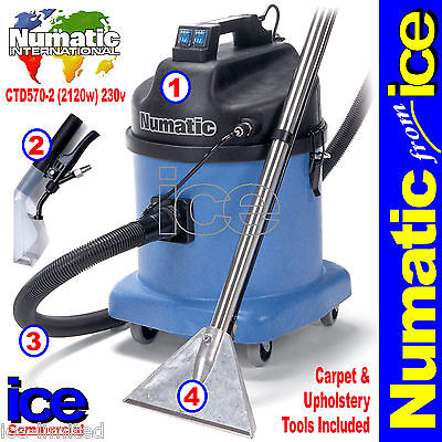 Numatic CTD570-2 Carpet Upholstery Fabric Wet Vacuum Shampoo Extraction Cleaner • 799.99£