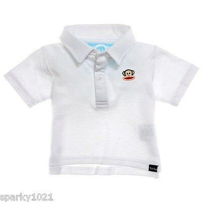£15.27 • Buy Paul Frank Toddler Classic Polo Shirt White Baby Boy's Size 18 Months New