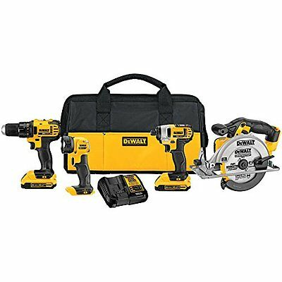 £307.83 • Buy Four Piece Drill Tool Set Combo Light Saw Build Gift Surprise Garage Shed Yard