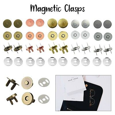 Magnetic Snaps Clasps Fastening Purses Handbags Craft Buttons Closures 14 & 18mm • 1.99£