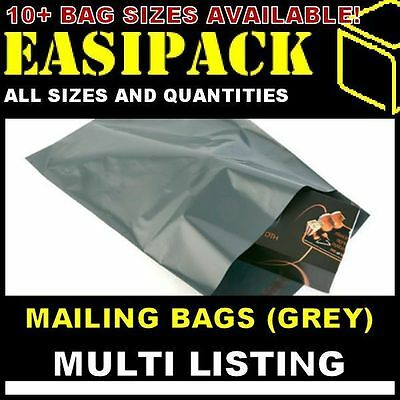 GREY MAILING MAIL BAGS SACKS Strong Poly Plastic For Postage Postal *ALL SIZES* • 2.23£