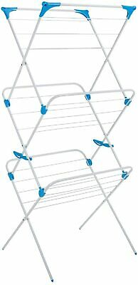 Clothes Airer Minky Trio Concertina Tubular Dryer Laundry Indoor Rack Big White • 26.24£
