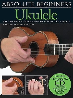 AU35.95 • Buy Absolute Beginners Ukulele Book & CD *NEW* Complete Picture Guide, Lessons Uke