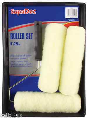 """SupaDec DIY Decorating 9"""" Roller, Frame And Tray Paint Set For Walls & Ceilings • 6.99£"""