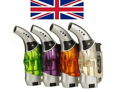 New Uk Pocket Lighter Blow Torch Jet Flame Butane Gas Refillable - Uk Stock  • 5.99£
