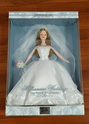 $34.99 • Buy Millennium Wedding Barbie 1999 First In Series Collector Edition NRFB