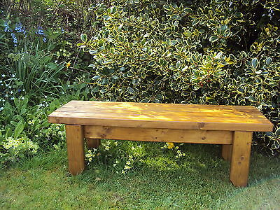Quality Handmade Garden-kitchen-Dining-utility Wooden Bench Sturdy And Solid 4FT • 70£